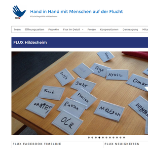 Screenshot der Internetseite www.flux-hildesheim.de